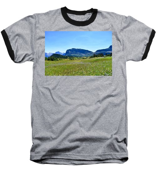 Baseball T-Shirt featuring the photograph View From Logans Pass by Dacia Doroff