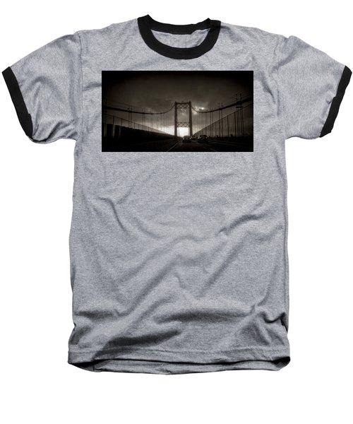 Vincent Thomas Bridge Baseball T-Shirt by Joseph Hollingsworth