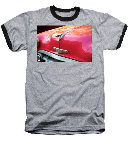 Baseball T-Shirt featuring the photograph Vintage Chevy Hood Ornament Havana Cuba by Charles Harden