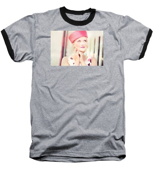 Vintage Val The Coral Hat Baseball T-Shirt