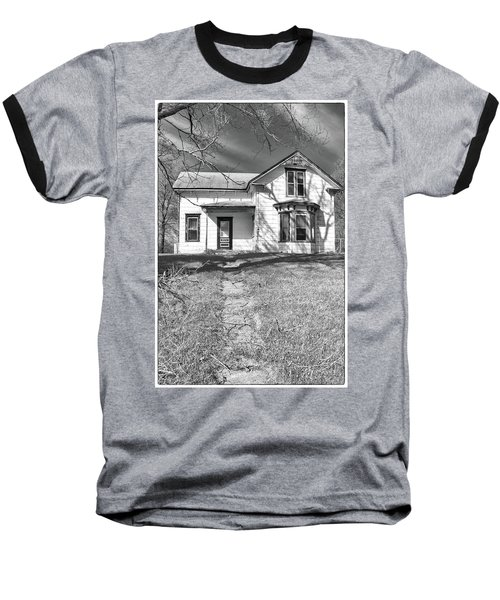 Visiting The Old Homestead Baseball T-Shirt by Guy Whiteley