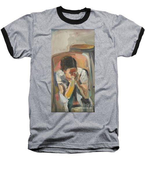 Wait Child Baseball T-Shirt by Daun Soden-Greene