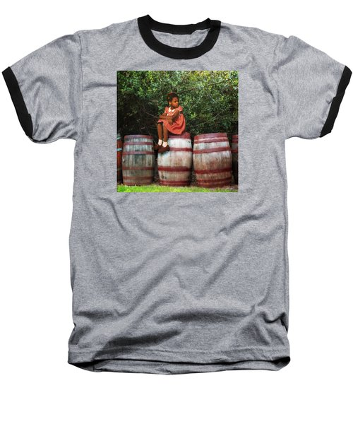 Baseball T-Shirt featuring the photograph Waiting For Father 3 by Timothy Bulone
