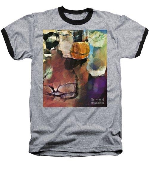 Waiting Baseball T-Shirt by Kathie Chicoine