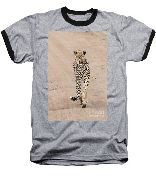 Baseball T-Shirt featuring the photograph Walking Away by Pravine Chester