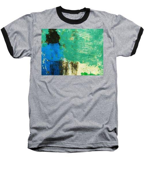 Wall Abstract 70 Baseball T-Shirt by Maria Huntley
