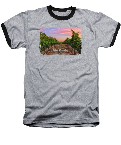 Walla Walla Wine Country Baseball T-Shirt