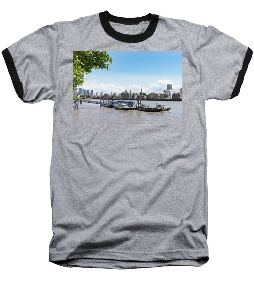 Baseball T-Shirt featuring the photograph Wapping River Police Waterloo Pier by Gary Eason
