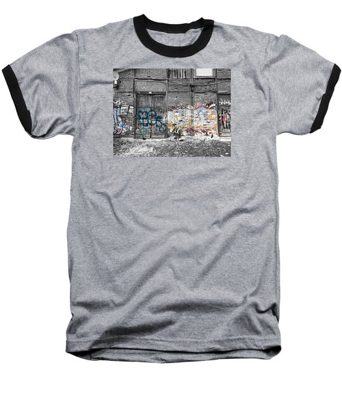 Warehouse In Lisbon Baseball T-Shirt by Ehiji Etomi