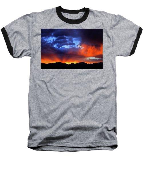 Wasatch Sunrise Baseball T-Shirt by Paul Marto