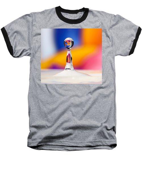 Water Drop Baseball T-Shirt by Colin Rayner