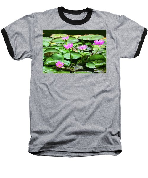 Baseball T-Shirt featuring the photograph Water Lilies by Anthony Jones