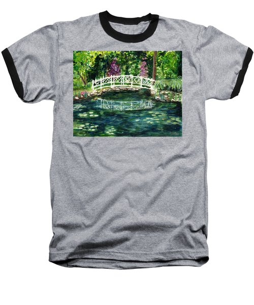 Water Lily Baseball T-Shirt by Clara Sue Beym