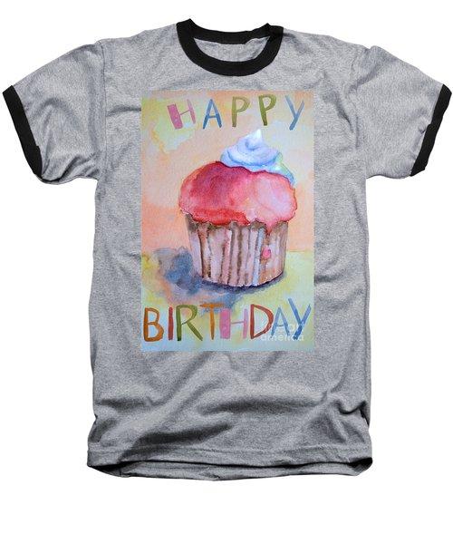 Watercolor Illustration Of Cake  Baseball T-Shirt