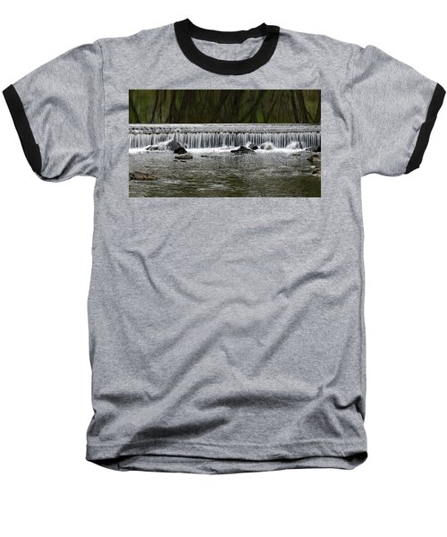 Waterfall 003 Baseball T-Shirt by Dorin Adrian Berbier