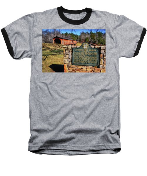 Watson Mill Covered Bridge 010 Baseball T-Shirt by George Bostian