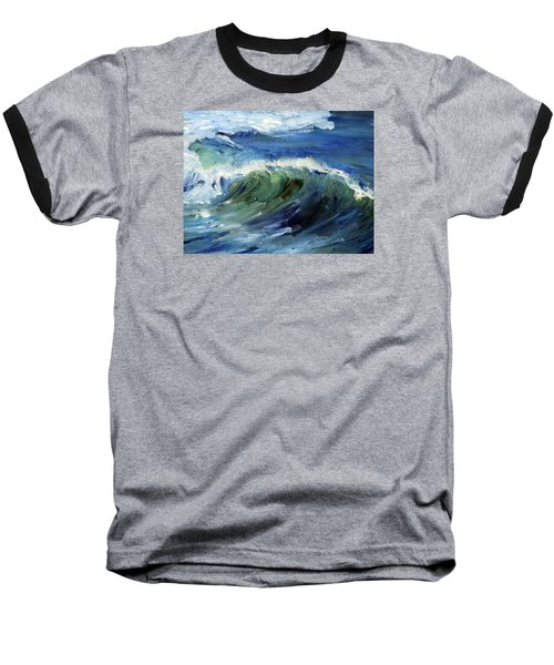 Wave Action Baseball T-Shirt by Michael Helfen