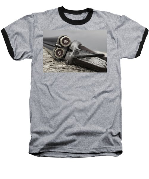 Webley And Scott 12 Gauge - D002721a Baseball T-Shirt by Daniel Dempster