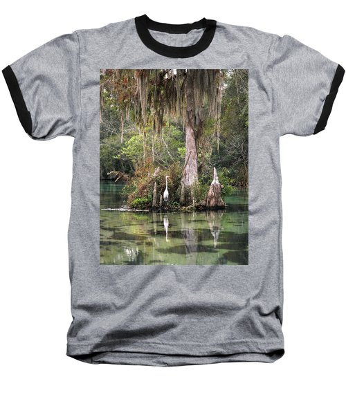 Weeki Wachee River Baseball T-Shirt by Steven Sparks