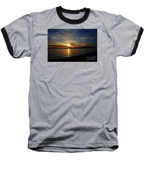 Welcome Beach 2015 3 Baseball T-Shirt by Elaine Hunter