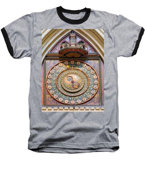 Wells Cathedral Clock Baseball T-Shirt