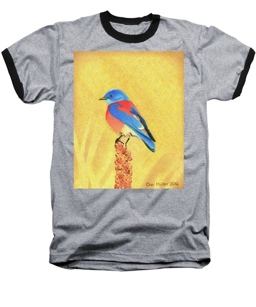Western Bluebird Baseball T-Shirt