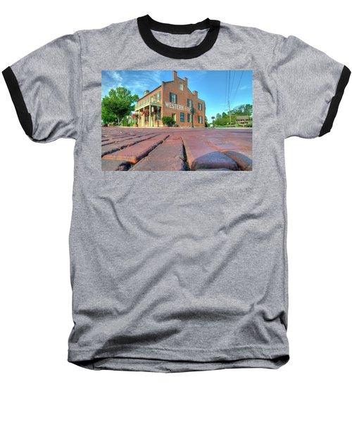 Western House Baseball T-Shirt by Steve Stuller