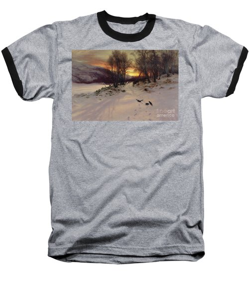 When The West With Evening Glows Baseball T-Shirt by Joseph Farquharson