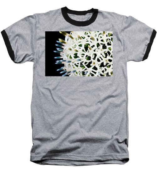 White Alium Onion Flower Baseball T-Shirt