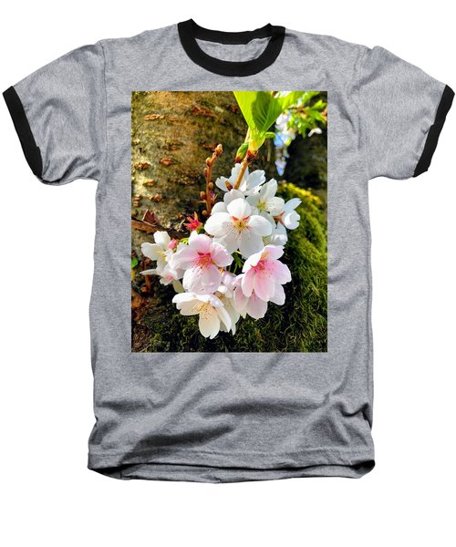White Apple Blossom In Spring Baseball T-Shirt