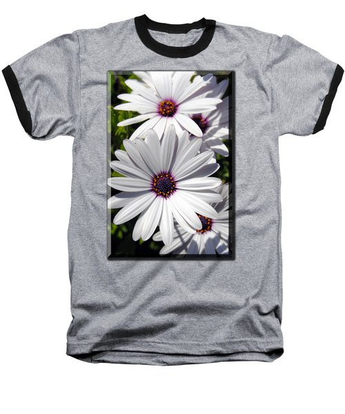 White Flower T-shirt Baseball T-Shirt