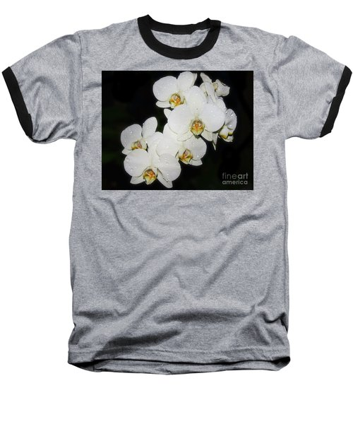 Baseball T-Shirt featuring the photograph White Orchid by Elvira Ladocki