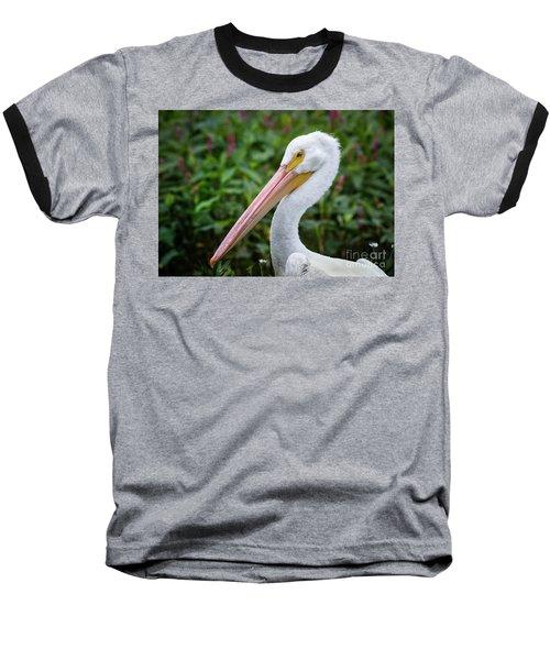White Pelican Baseball T-Shirt by Robert Frederick