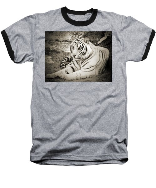 White Tiger Baseball T-Shirt