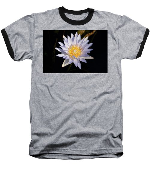Baseball T-Shirt featuring the photograph White Water Lily by Steve Stuller