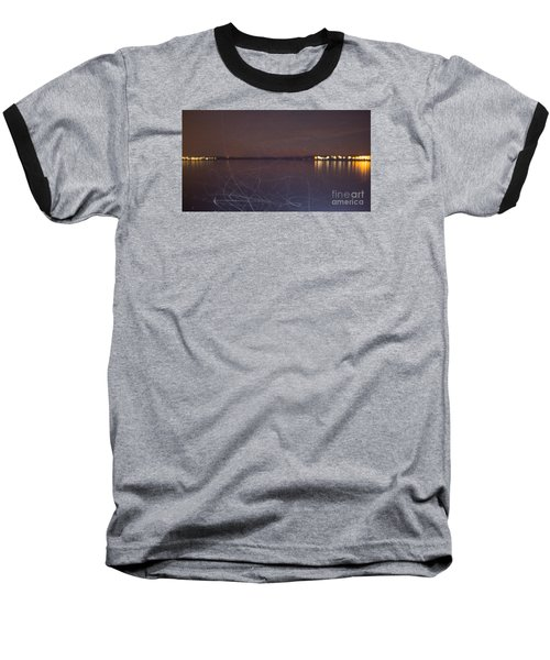 Baseball T-Shirt featuring the photograph Whoosh Of Mosquitoes In The Night by Odon Czintos