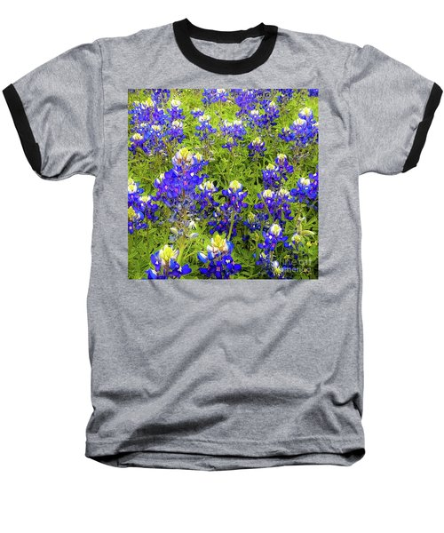 Wild Bluebonnets Blooming Baseball T-Shirt