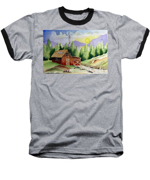 Wilderness Cabin Baseball T-Shirt