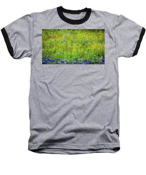 Wildflowers In Bloom Baseball T-Shirt