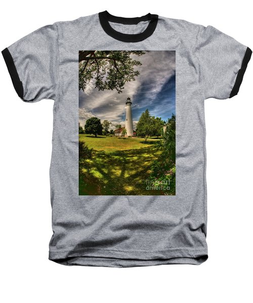 Wind Point Lighthouse Baseball T-Shirt
