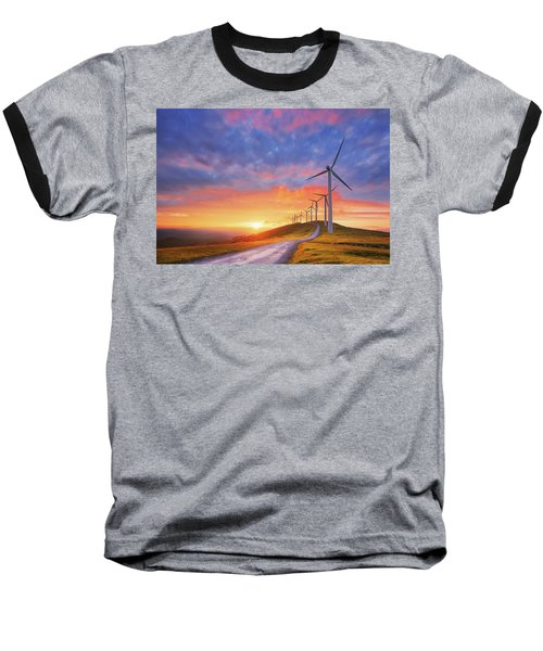 wind turbines in Oiz eolic park Baseball T-Shirt