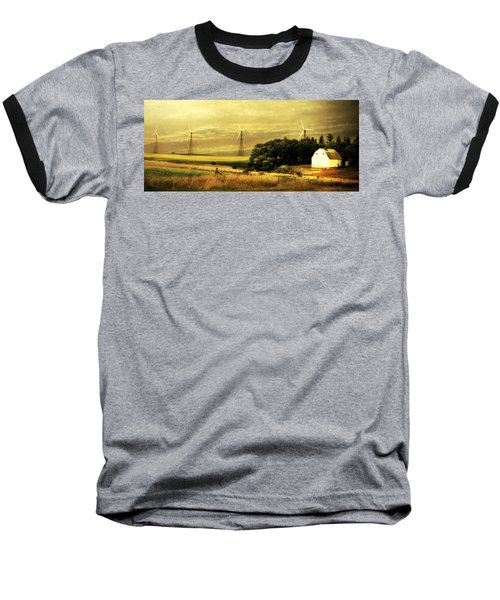 Baseball T-Shirt featuring the photograph Wind Turbines by Julie Hamilton