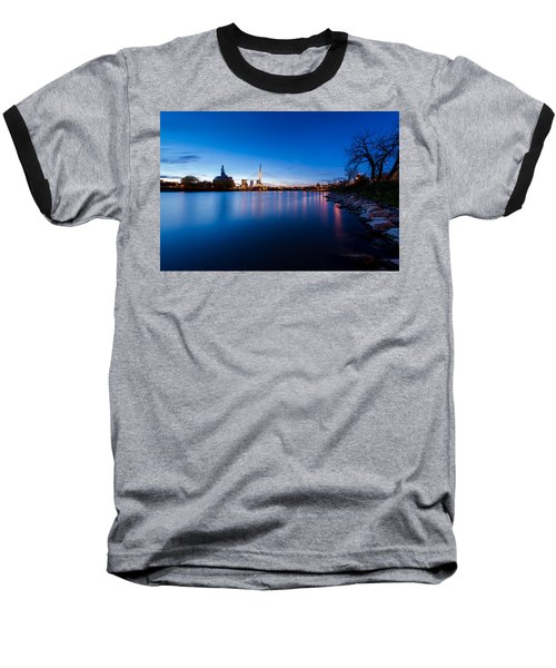 Winnipeg At Night Baseball T-Shirt