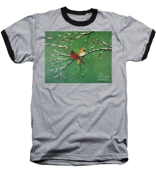 Winter Cardinals Baseball T-Shirt