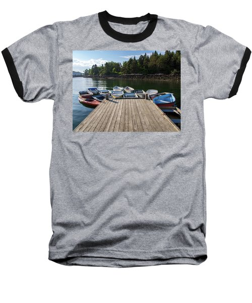 Baseball T-Shirt featuring the photograph Winter Harbor Maine  by Trace Kittrell