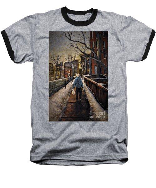 Winter In The City Baseball T-Shirt
