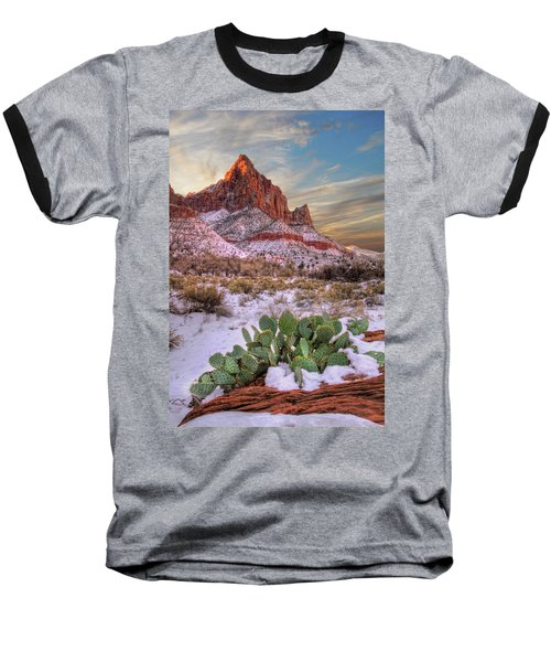 Winter In Zion National Park Utah Baseball T-Shirt