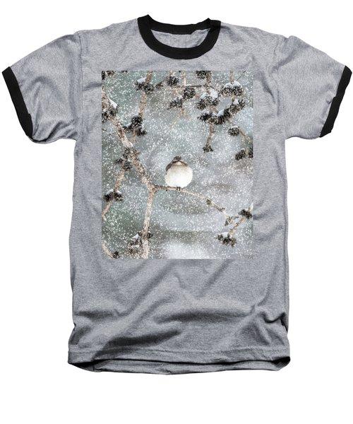 Winter Mockingbird Baseball T-Shirt