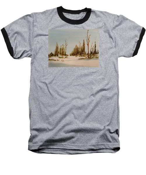 Winter Morning Baseball T-Shirt by Larry Hamilton