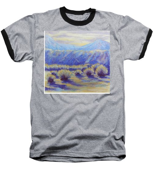 Winter Morning Riverbend Baseball T-Shirt by Becky Chappell